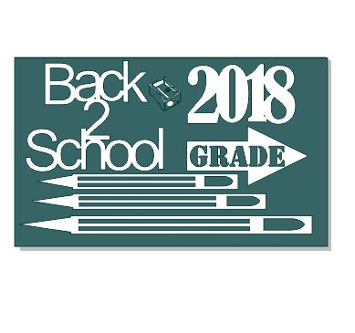 Back2shool 2018  Chipboard  min buy 3